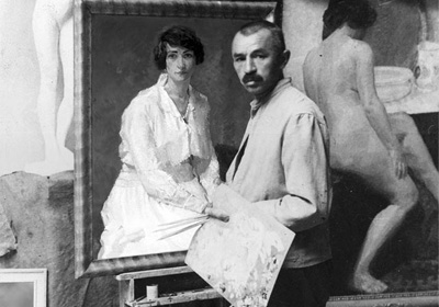 Friedrich Karl Ströher im Atelier
