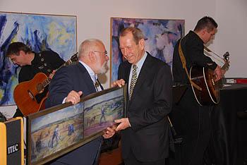 Die beiden Vorsitzenden, Dieter Merten (rechts) und Wilfried Theiß. Foto: Volker Berg