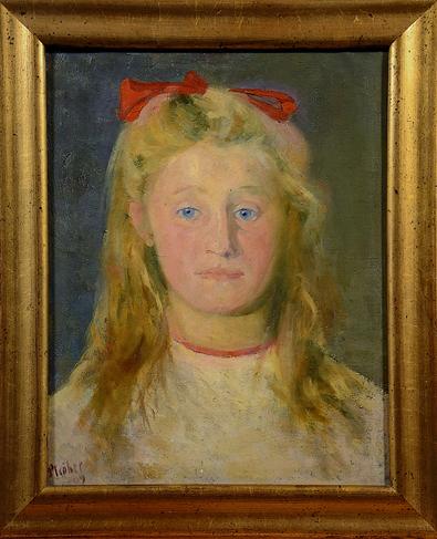 Inv. Nr. 1.2.23b: Berlin 1910 - Mädchen mit roter Schleife, Maria Heckert
