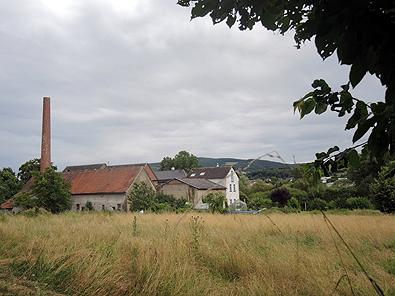 Die Gäns-/Heckertsmühle unterhalb von Martinstein/Merxheim