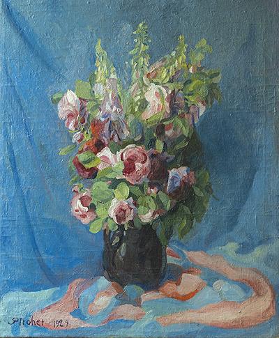 Fingerhut mit Rosen. Irmenach 1924