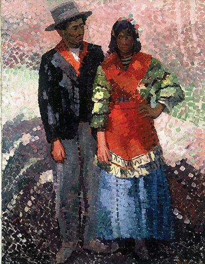 Zigeunerpaar. Südspanien 1911