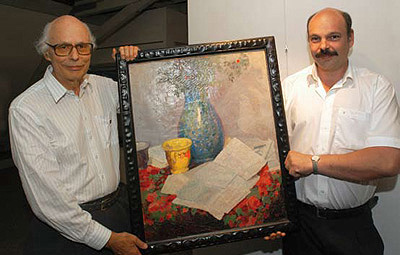 Peter Ströher und Sohn Andreas, 2005. Foto: Werner Dupuis